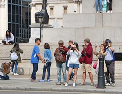 Click! (Waterford_Man) Tags: tourists photographers girls london people path candid