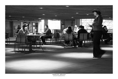[ Invasion ] (Marcos Jerlich) Tags: urban people walker contrast architecture interior bnw blackandwhite bw noiretblanc monochrome mono blur light saopaulo sesc brasil américadosul canon canont5i canon700d efs1855mm marcosjerlich hat