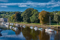 The trees are turning! (WatsonMike) Tags: bridgetown devon england house ipsv0462 newkeywords sky southhams totnes tourism vacation water autmnlandscape autumn autumncolors autumntrees outdoors reflection river watercraft