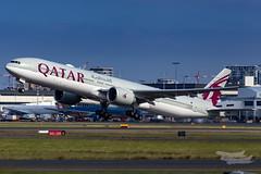 A7-BEW QR B77W 16R YSSY-5557 (A u s s i e P o m m) Tags: qatarairways qatar qr syd yssy sydneyairport
