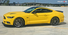 triple-yellow-mustang-gt-project-6gr-10-ten-satin-graphite-02 (PROJECT6GR_WHEELS) Tags: project 6gr 10ten wheels rims rim wheel satin graphite triple yellow s550 mustang gt ford gt350