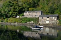 Pont Pill Quay, Pont Pill Creek, Cornwall (Baz Richardson) Tags: cornwall pontpill pontpillquay gradeiilistedbuildings nationaltrust smallboats creeks