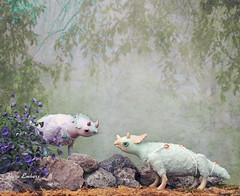 Lost friend (pure_embers) Tags: pure laura embers doll dolls england uk pureembers photography photo art dinosaur triceratops cute fantasy scene magical story whimsical magicalworld