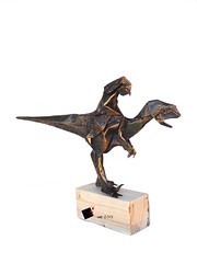 through the ages (-sebl-) Tags: origami sebl dinosaur jurassic raptor paper rider uncut