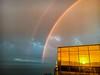 Double Rainbow over Saundersfoot, Pembrokeshire, Wales