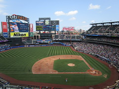 Citi Field, 08/26/18 (NYM v. WAS): Bottom 3rd, 2 out: Todd Frazier connects with a 92mph Jefry Rodriguez changeup, fiying out to CF Michael A. Taylor for the final out of the inning (IMG_3029) (Gary Dunaier) Tags: baseball stadiums stadia ballparks mets newyorkmets flushing queens newyorkcity queenscounty queensboro queensborough citifield