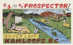 The Viking - B.C. Prospector & Silver Lady - Kamloops, British Columbia (73sand88s by Cardboard America) Tags: qsl cb cbradio vintage qslcard dirty britishcolumbia theviking