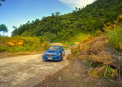 Wrx 2015 (Paterson Galupe) Tags: subaru wrx 2015 hdr tanay rizal tanayburgring road infanta philippines car blue landscape dusty