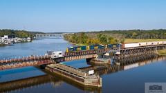 F749-07 Hopewell Drone 2228 (HeritageNY) Tags: csx train standard cab swing bridge james river drone marina