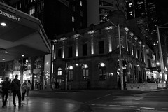 Sydney in Black and White #4 (1DesertRose) Tags: fast movement city structure historic buildings photography streetphotography landscape sydney australia pub blackandwhite urban people life