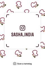 example of nametag for Instagram (Sasha India) Tags: instagram nametag instatag tag name sashaindia дизайн qrcode design 設計 디자인 التصميم σχέδιο डिज़ाइन வடிவமைப்பு desenhar projekt עיצוב desain rosario beads 薔薇