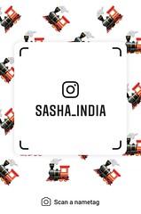 example of nametag for Instagram (Sasha India) Tags: instagram nametag instatag tag name sashaindia дизайн qrcode design 設計 디자인 التصميم σχέδιο डिज़ाइन வடிவமைப்பு desenhar projekt עיצוב desain train locomotive 蒸汽機車