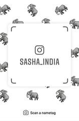 example of nametag for Instagram (Sasha India) Tags: instagram nametag instatag tag name sashaindia дизайн qrcode design 設計 디자인 التصميم σχέδιο डिज़ाइन வடிவமைப்பு desenhar projekt עיצוב desain elephant