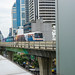 Skytrain passing by in Sukhumvit Bangkok