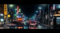 基隆 (crazytony55) Tags: d90 sigma 1850mm nightshot keelung taiwan lighttrail traffic bus 公車 交通 車流 車軌 基隆 台灣 夜景 街景