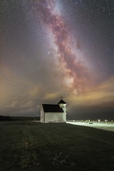 Milky way watching over old church (kenthelleland) Tags: rural old cemetary church oldchurch landscape nature norway rogaland varhaug kenthelleland canon canon70d tokina widefield milkyway galaxy nightshot nightimage nightsky astrophotography universe stars star nightscape graveyard visitnorway