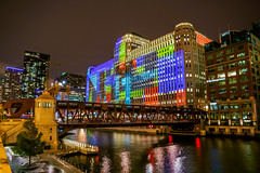 Art on theMART | Wells Street Bridge (Joshua Mellin) Tags: chicago artonthemart projection light merchandisemart themart merchandise mart history river chicagoriver riverfront shapes squares colors evening 2018 fall autumn october winter cold bridge wellsstreetbridge wellsstreet city colorful ad advertisement original large big full print order art building buildings architecture chicagoarchitecturefoundation chicagoarchitecture foundation sustainable green architect forever travel tourism choosechicago lights lighting science technology technological