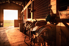 Stable Sunset 2 (Carsen City Photography) Tags: sony sunset sunrise barn stable 1635 fe uwa lock key door wood rustic farm country horse equestrian