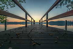 DSC00357 (karstenlützen) Tags: germany brandenburg markbrandenburg scharmützelsee badsaarow fontanepark jetty pier sunrise waterfront lakeside sonyflickraward