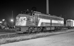 E9 #64 (DJ Witty) Tags: emd dieselelectric passenger locomotive rr photography train passengertrain railroad baltimore maryland usa electromotive e9 marc pentaxk1000 agfapan