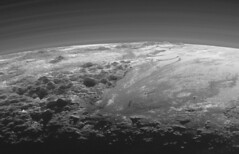 Majestic Mountains and Frozen Plains (NASA APPEL Knowledge Services) Tags: pluto new horizons mission rough black white grey kuiper belt dwarf planet clyde tombaugh venetia katharine douglas burney science outer space cosmos aeronautics administration