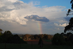 "Downtime Down Under - Rainbow in a New South Wales Sky (antonychammond) Tags: rainbow sky clouds cloudscape landscape orangensw newsouthwales australia fields trees contactgroups thegalaxy landscapesofaustralia ""magicmomentsinyourlifelevel3"""