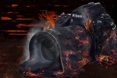 Frustration & Practice (abnormally average) Tags: nikon d700 vintage camera classic fullframe burnt burning melt melting photoshop manipulation notgood bitshit itried abnormallyaverage