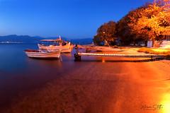 Psathopyrgos (marinas8) Tags: nikon nikonphotography d5300 longexposure greece boat sea seascape landscape photography night light deck