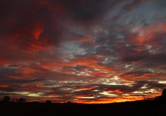 Saturday Morning Sunrise..x (Lisa@Lethen) Tags: sunrise saturday morning dawn cloud sun silhouettes weather nature