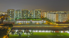 Eunos Estate (jacysf) Tags: eunos mrtstation suburban throughherlens highrise hdb cityscape urban
