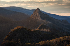 _MG_5072_Sugarloaf Peak_Flickr (Andrewhg photo) Tags: cathedral range state park taggerty victoria australia mountain rugged dusk ridge line north jawbone peak parks burnt trees oceania mountains landscape hike hiking danger dslr canon 70300mm rock rocks rocky clouds cloudy dark sunlight light bush walking dawn 5d mark iii manfrotto tripod