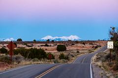 The Slow Road to La Sal (Ian Allon) Tags: moab utah unitedstates us canyonlands road landscape mountain dusk lasalmountains sony a6500 canyonlandsnationalpark