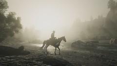 Fog Settling In (nicksoptima) Tags: fog river western wilderness ps4 red dead redemption 2 screenshot rockstar horse cowboy
