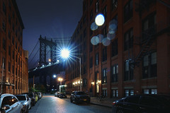Brooklyn bridge seen from a narrow alley enclosed by two brick buildings at dusk, NYC USA (Patrick Foto ;)) Tags: brooklyn manhattan alley america architectural architecture blue brick bridge building city cityscape colorful downtown dumbo dusk east empire famous historic infrastructure landmark metal narrow new night nyc outdoor park place river sky skyline state steel street sunset suspension tall tourism travel twilight urban usa view water window york newyorkcity newyork unitedstates us