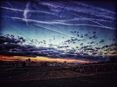 Work#1 (ckandera) Tags: sun iphone landscape sundowner clouds bern work