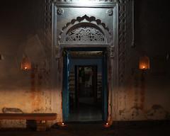 Entrance - Dipawali (thomas.pirolt) Tags: takumar india goverdhan sonya7 sony a7 a7ii m42 architecture dipawali diwali candles building old vrindavan braj krishna krsna radha radharani night art