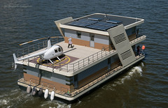 Houseboat (Lyutik966) Tags: ship transport vehicle boat powerboat houseboat helipad river water moscow navigation parade