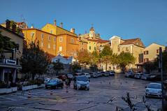 Labin pred zalazak (MountMan Photo) Tags: labin istra croatia cityscape trg square predzalazak beforesunset cesta road