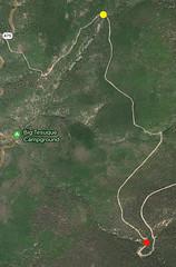 map of my trek from Big Tesuque 05Oct18 (johngpt) Tags: appleiphone7plus googlemap screenshot