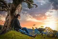 Sunset (axiscinema) Tags: sunset peace girl 5d mark iv