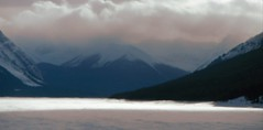 Canadian Rockies Deep Freeze (Mr. Happy Face - Peace :)) Tags: snow rockies albertabound cans2s pano canada nature clouds sky art2018 mood fog snowing cloudy wilderness snowcaps canmore banff alberta