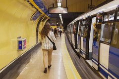 Madrid Metro (Five Second Rule) Tags: madrid travel spain capital 2018 subway underground metro yellow woman