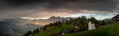 rainbow (hjuengst) Tags: liechtenstein schweiz switzerland rhein river rhine clouds wolken panorama pano mountains alps masescha