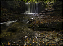 Nant Mill Waterfall (Charles Connor) Tags: nantmill coedpoeth northwales waterfalls flowingwater water longexposurephotography longexposure landscapephotography landscape rocks depthoffield leaves waterblur canondslr