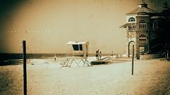 Moonlander on the beach... (jaap spiering | photo projects int.) Tags: jaapspiering jaapspieringphotographer jaapspieringfotografie blackandwhite monochrome zwartwit bw noiretblanc bnw strandleven beachlife zee sea strand beach kust coast wolken clouds nature cottesloe australia
