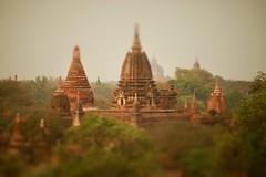 Old Bagan (*Kicki*) Tags: asia temples temple stupas oldbagan burma myanmar bagan blur fakebokeh sky nature landscape skyline trees architecture pagan tiltshift