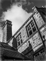 Out and about. Stanley. (CWhatPhotos) Tags: cwhatphotos stanley views county durham north east england street clouds cloudy sky olympus digital camera photographs photograph pics pictures pic picture image images foto fotos photography artistic that have which with contain artistc board school front derelict empty flickr