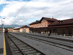 Arrival in Kranj (marco_albcs) Tags: kranj slovenia slovenija trainstation train station empty summer