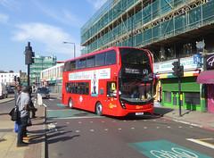 GAL EH238 - YX18KRN - PECKHAM HIGH STREET - THUR 6TH SEPT 2018 (Bexleybus) Tags: goahead go ahead london peckham high street bus station tfl route 171 adl dennis enviro 400 mmc hybrid eh238 yx18krn