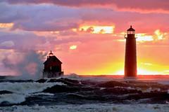 Rainbow Sorbet (09 21 2018) (PhotoDocGVSU) Tags: grandhavenmi lighthouse lakemichigan greatlakes gale storm windy waves canon5d3 sigma50500os bigma sunset